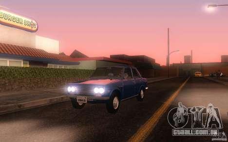 Datsun 510 4doors para GTA San Andreas esquerda vista