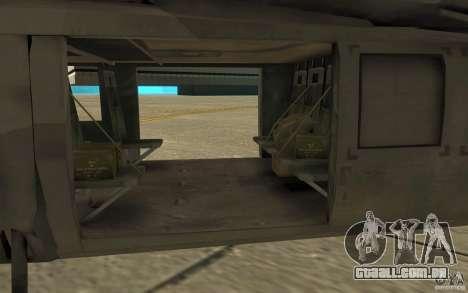 UH-80 para GTA San Andreas vista traseira