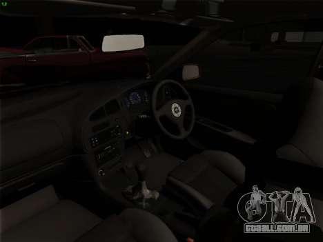 Mitsubishi Lancer Evolution VI para GTA San Andreas vista inferior
