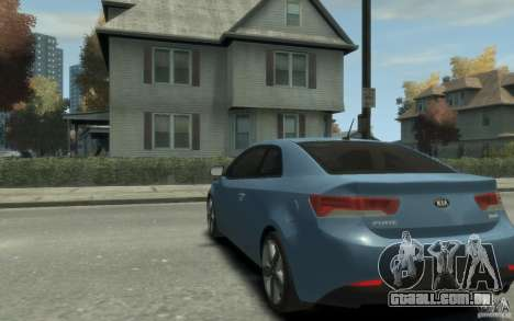 Kia Forte Koup SX para GTA 4 traseira esquerda vista