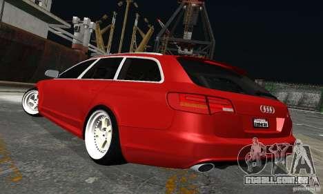 Audi A6 Avant Stanced para GTA San Andreas vista traseira