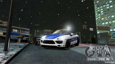 Porsche Cayenne Cop para GTA 4 traseira esquerda vista