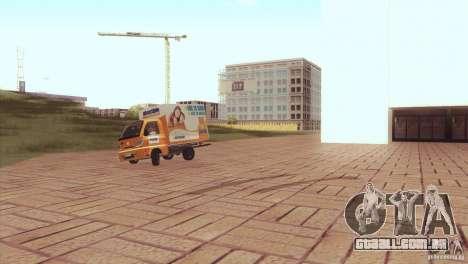 Hafei Camion de Gas para GTA San Andreas traseira esquerda vista