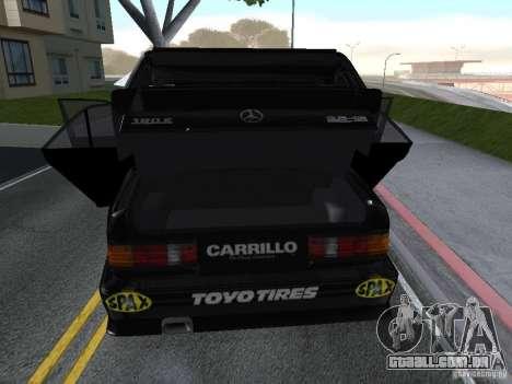 Mercedes-Benz 190E Racing Kit1 para GTA San Andreas vista traseira