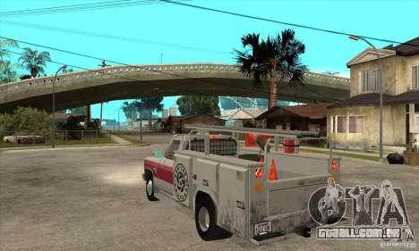 Chevrolet Silverado - utility para GTA San Andreas traseira esquerda vista