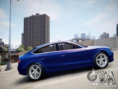 Audi A5 Sportback para GTA 4 traseira esquerda vista
