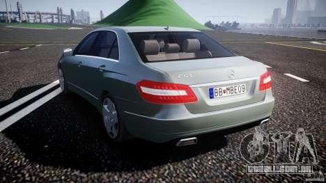 Mercedes-Benz E63 2010 AMG v.1.0 para GTA 4 traseira esquerda vista