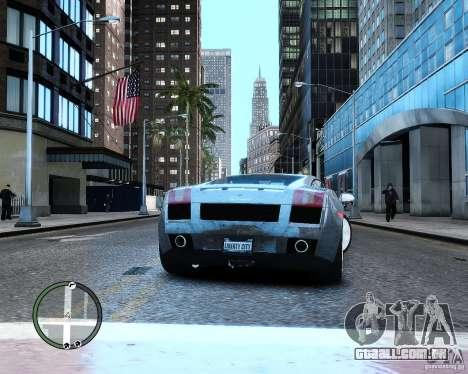 Lamborghini Gallardo 2005 para GTA 4 traseira esquerda vista