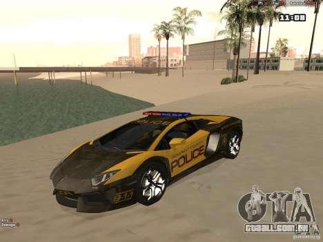 Lamborghini Aventador LP700-4 Police para GTA San Andreas
