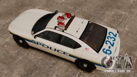 Polícia búfalo ELS para GTA 4 vista direita