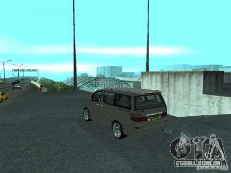 Toyota Alphard G Premium Taxi indonesia para GTA San Andreas esquerda vista