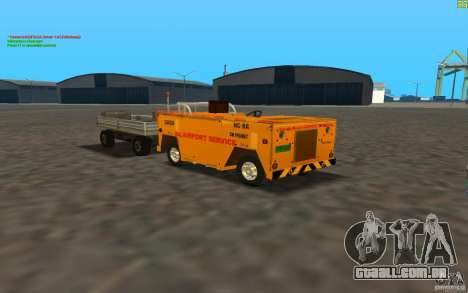 Airport Service Vehicle para GTA San Andreas esquerda vista