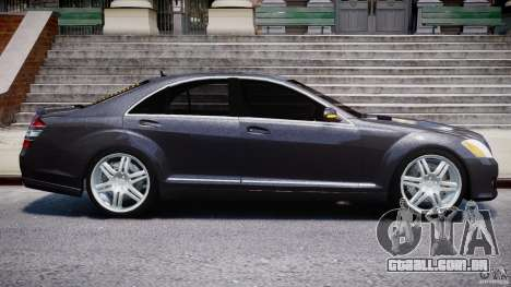 Mercedes-Benz S-Class W221 BRABUS SV12 para GTA 4 vista superior