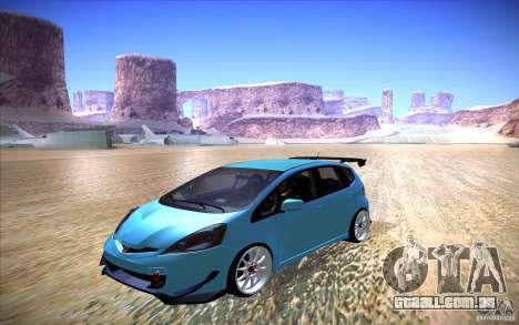 Honda Fit para GTA San Andreas vista direita