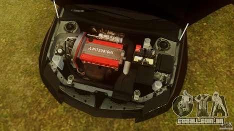 Mitsubishi Lancer Evo 2004 para GTA 4 vista interior