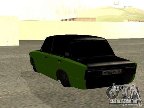 VAZ 2106 HUlK para GTA San Andreas esquerda vista