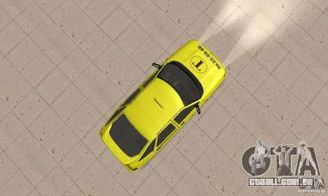 VAZ 21124 TÁXI para GTA San Andreas vista direita