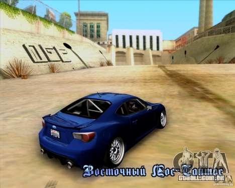 Subaru BRZ Stance para GTA San Andreas vista interior