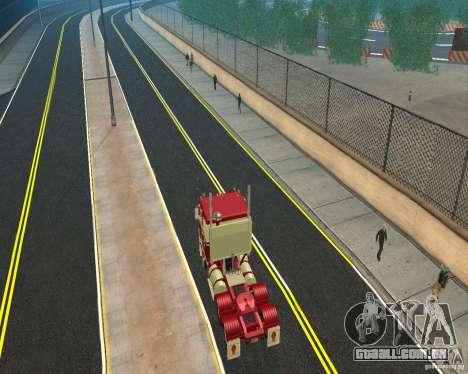 Kenworth K100 para GTA San Andreas traseira esquerda vista