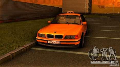 BMW 730i Taxi para GTA San Andreas vista direita