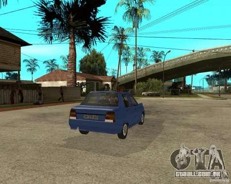 ZAZ 1103 Slavuta para GTA San Andreas traseira esquerda vista
