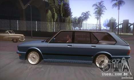 BMW E28 Touring para GTA San Andreas traseira esquerda vista