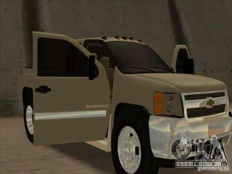 Chevrolet Silverado 3500 para GTA San Andreas vista traseira