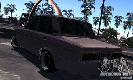 VAZ 2106 Turbo para GTA San Andreas traseira esquerda vista