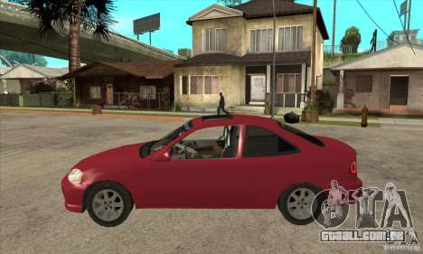 Honda Civic Tuning Tunable para GTA San Andreas traseira esquerda vista