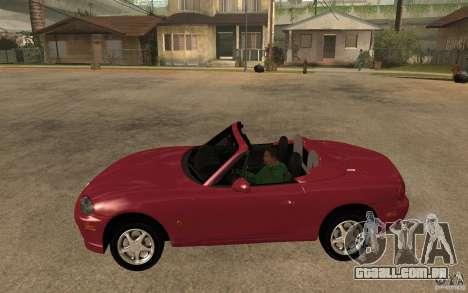 Mazda MX5 - Stock para GTA San Andreas esquerda vista
