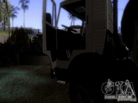 Tanque de leite 53212 KAMAZ para vista lateral GTA San Andreas