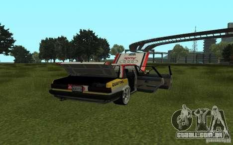 Audi 80 Quattro Rally para GTA San Andreas esquerda vista