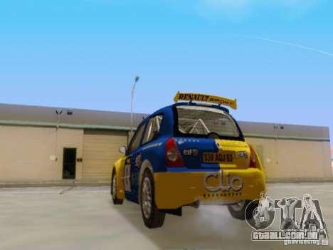 Renault Clio Super 1600 para GTA San Andreas traseira esquerda vista
