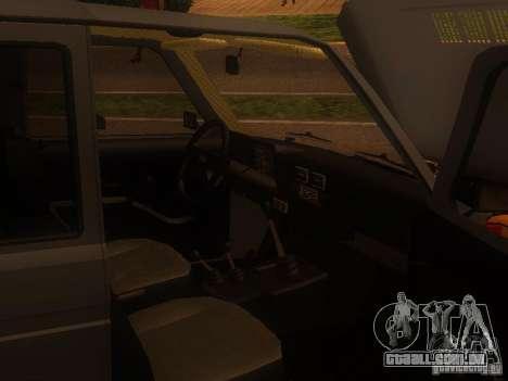 Vaz 2131 NIVA para GTA San Andreas traseira esquerda vista