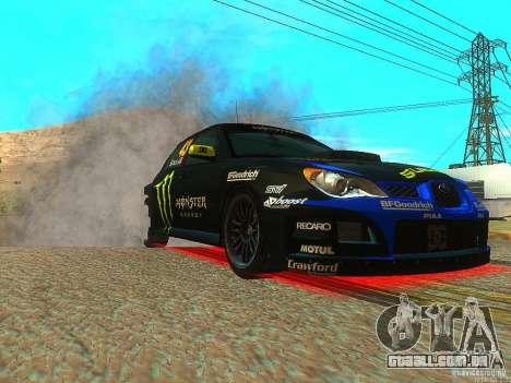 Subaru Impreza Gymkhana Practice para GTA San Andreas vista traseira