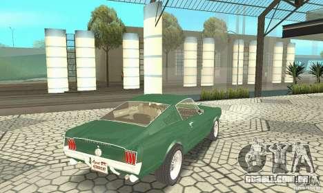 Ford Mustang Fastback 1967 para GTA San Andreas esquerda vista