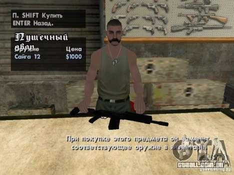 Armas de Pak domésticos para GTA San Andreas oitavo tela