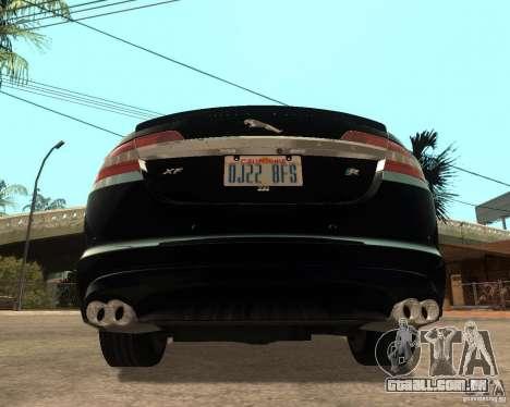 Jaguar XFR 2009 para GTA San Andreas traseira esquerda vista