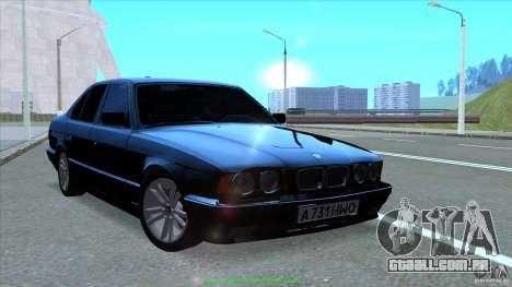 BMW E34 V1.0 para GTA San Andreas vista superior