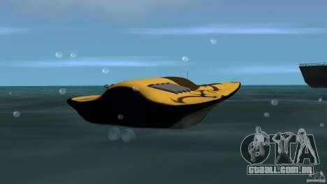 X-87 Offshore Racer para GTA Vice City vista traseira esquerda