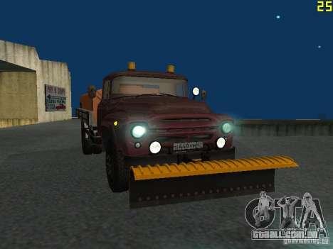 Ko-829 na beta de chassi de caminhão ZIL-130 para GTA San Andreas vista interior