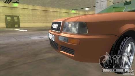 Audi S2 para GTA Vice City vista traseira esquerda