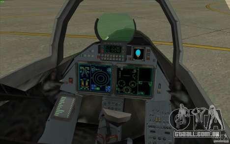 Su-35 BM v 2.0 para GTA San Andreas vista traseira