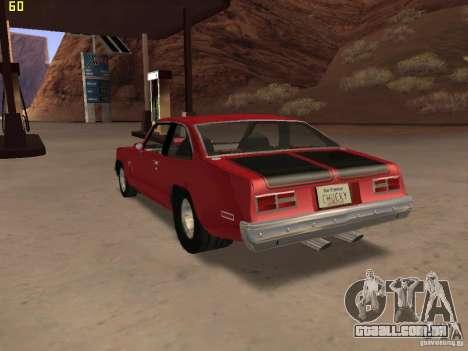 Chevrolet Nova Chucky para GTA San Andreas esquerda vista
