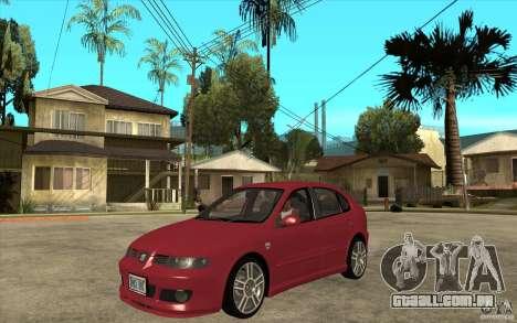 Seat Leon Cupra - Stock para GTA San Andreas