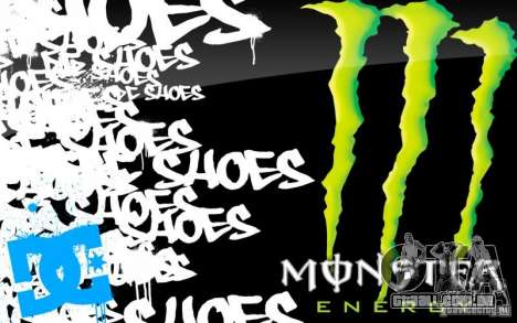 Tela de boot Monster Energy para GTA San Andreas quinto tela