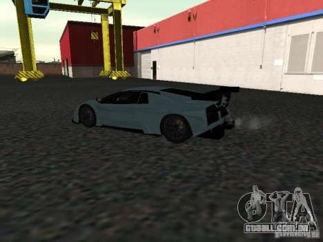 Lamborghini Murcielago R-GT para GTA San Andreas vista traseira