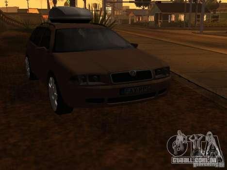 Skoda Octavia para GTA San Andreas vista superior