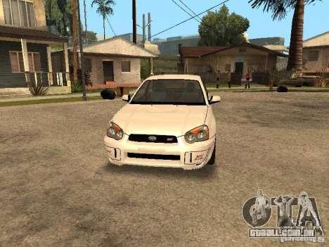 Subaru Impreza WRX STi para GTA San Andreas vista traseira
