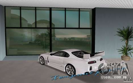 Toyota Supra Chargespeed para GTA Vice City deixou vista